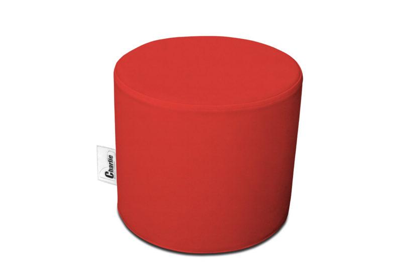 pouf extérieur rouge