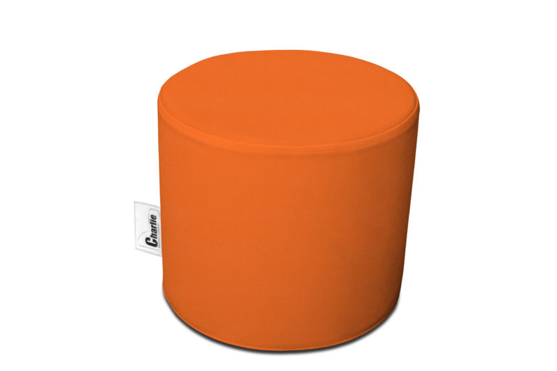 pouf extérieur orange