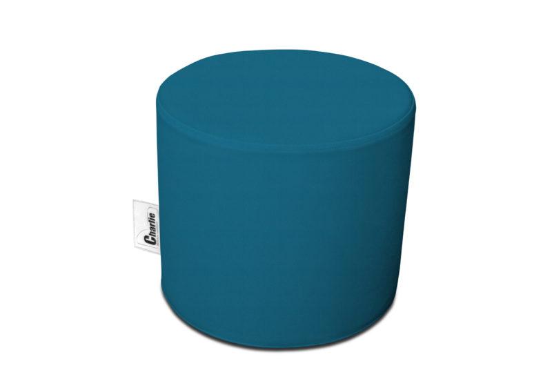 pouf extérieur bleu