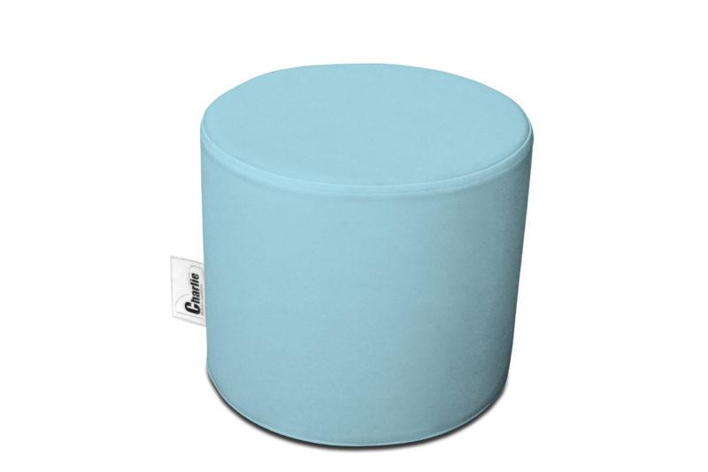 pouf extérieur bleu clair