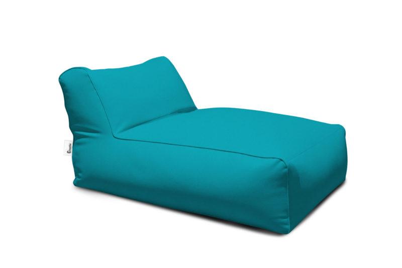 méridienne extérieure turquoise