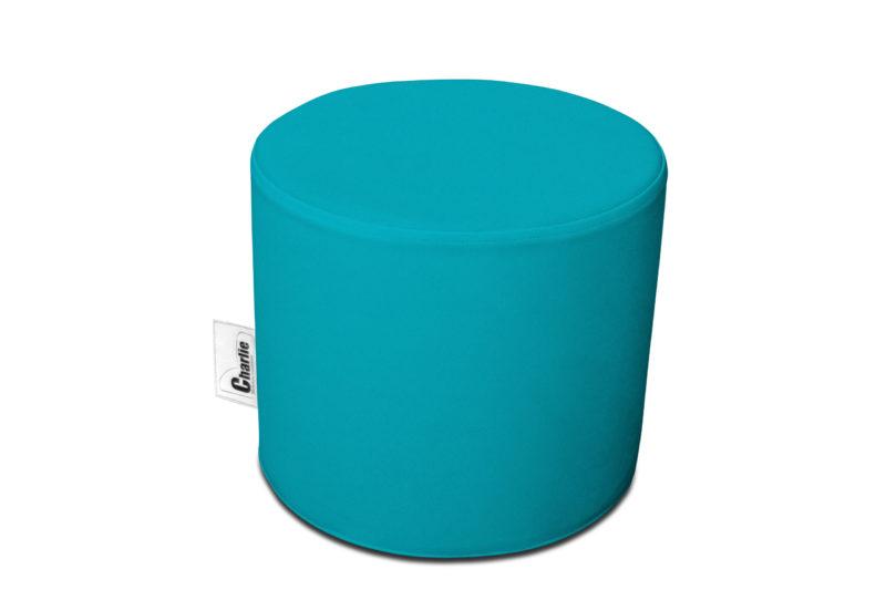 pouf extérieur turquoise