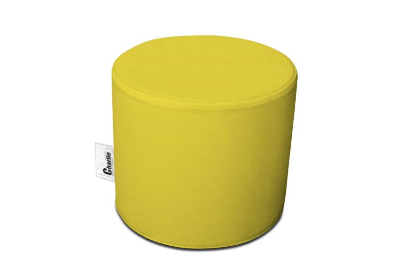 pouf extérieur jaune